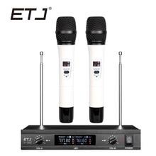ETJ Marca U-103 Mutável Bodypack Handheld Microfone Sem Fio Microfone Sem Fio Duplo