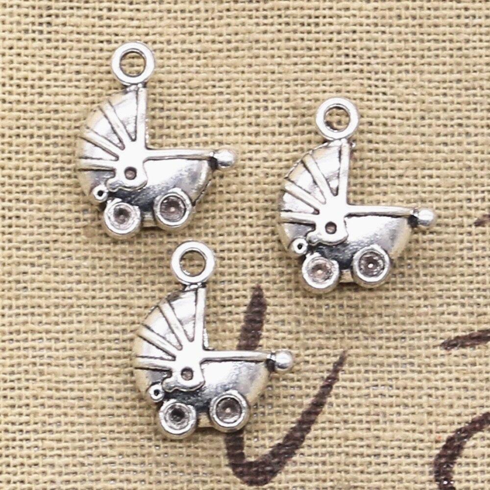 8pcs Charms 3D baby carriage buggy pram 16x13mm Antique Making pendant fit,Vintage Tibetan Silver,DIY bracelet necklace