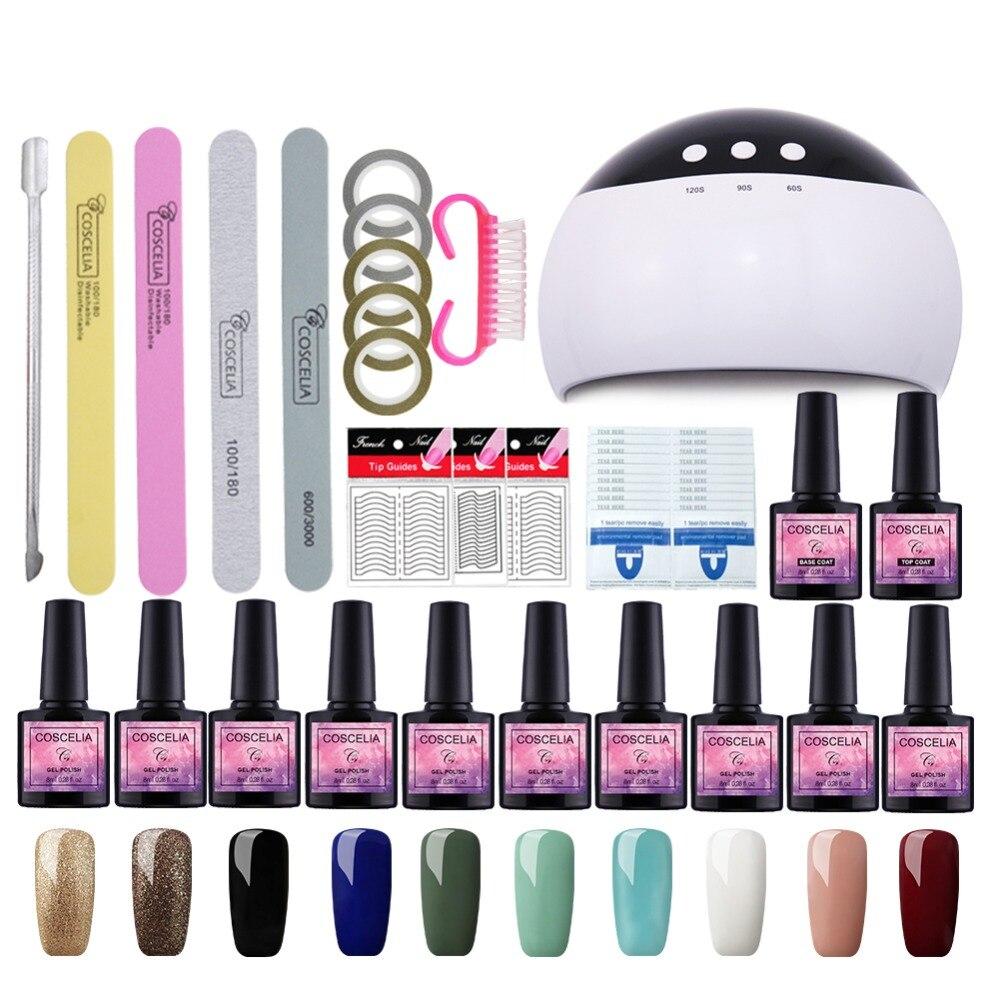 Best Gel Nails Set: Manicure Set 24W Dryer Nail Lamps Set For Gel Nail Polish