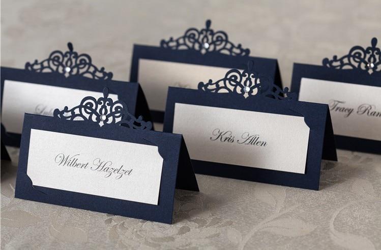 Aliexpress.com : Buy Elegant Laser Cut Wedding Name Card with ...