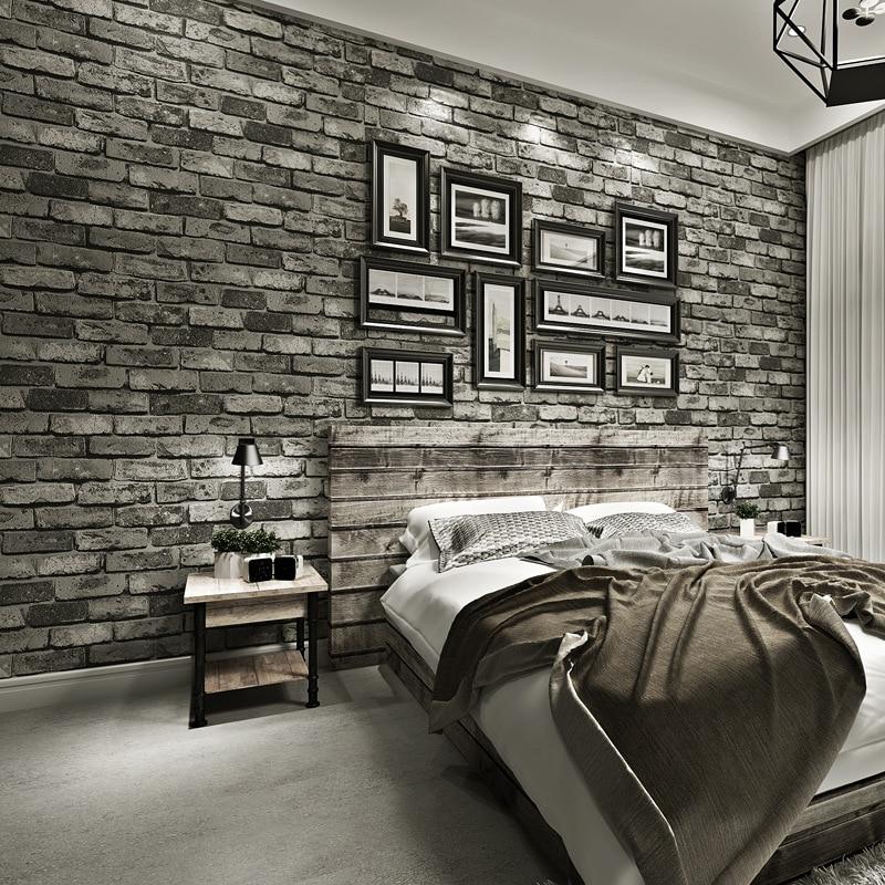 Vintage Bricks Textured Wallpaper For Walls Decor Embossed 3D Wall paper Rolls For Bedroom Living room Sofa TV Background
