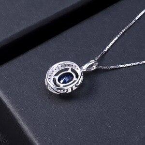 Image 4 - Женский драгоценный камень, овальный синий сапфир, серебро 925 пробы