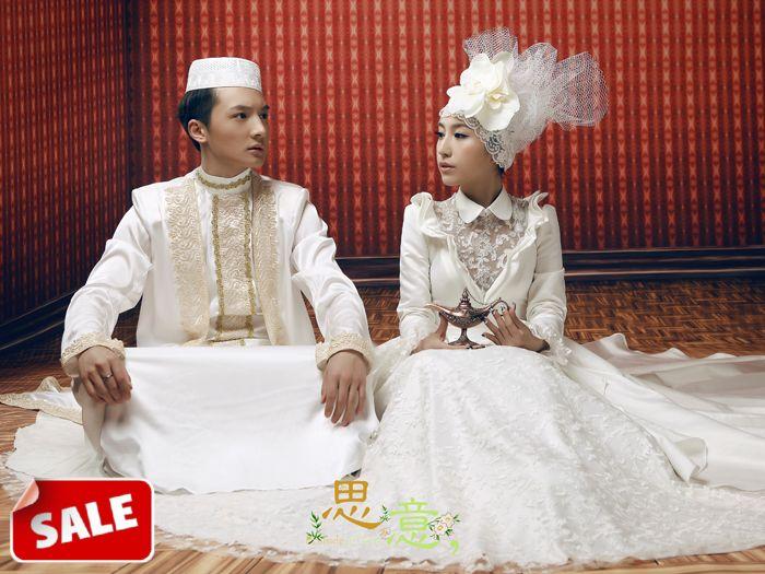 Free Shipping Popular Design Muslim Wedding Dress Fashion Bridal And