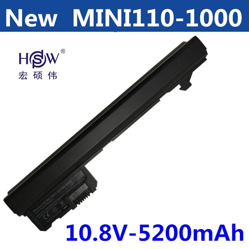HSW 6cells Laptop Battery For HP Mini110-1000 110 FOR COMPAQ Mini 102 110 CQ10 530973-741 537626-001 NY220AA NY221AA bateria замена абсолютно новый аккумулятор для ноутбука hp compaq mini cq10 100eb mini cq10 100er mini cq10 100ek mini cq10 100so