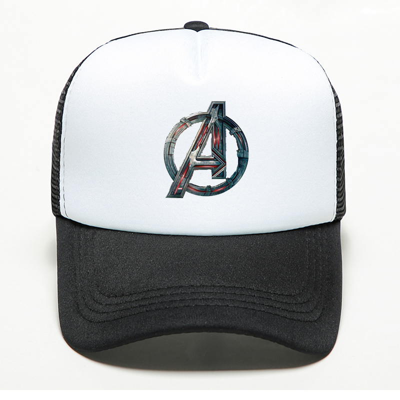 New Brand Marvel Avengers Sign Printed   Baseball     Cap   Women's Men's Summer Outdoors Shade Hat Adjustable Bone Mesh Snapback Hat