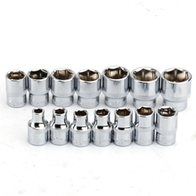 "14Pcs 3/8"" Drive Socke Set 6 7 8 9 10 11 12 13 14 15 16 17 18 19mm Socket Wrench Set 6 Point Socket Bit Adapter Car Repair Tools"