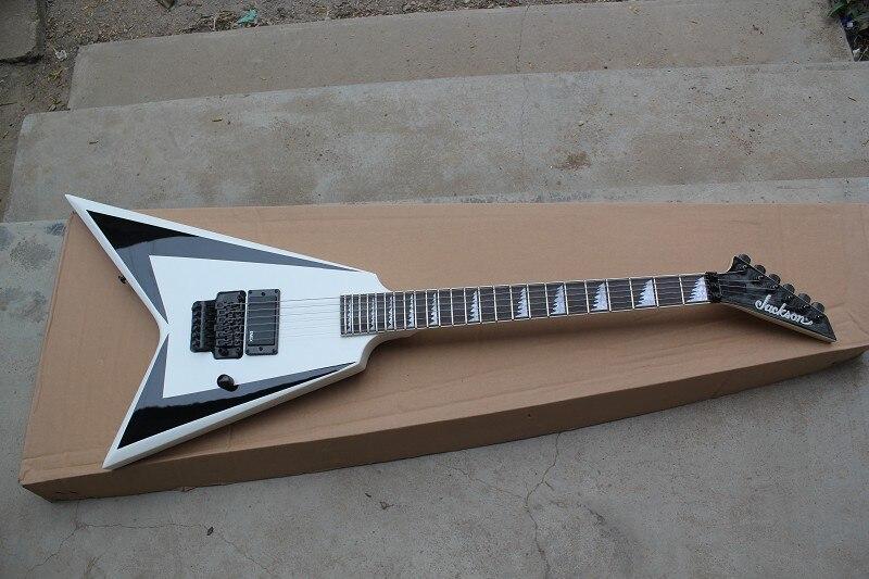 Gainer queue d'aronde guitare électrique blanc Jackson volant V guitare électrique haute qualité Instruments de musique 15-9