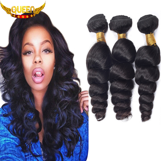 Brazilian Virgin Hair 3PCS Brazilian Loose Wave Virgin Hair 7A Unprocessed Human Hair Weave Soft Brazilian Hair Weave Bundles