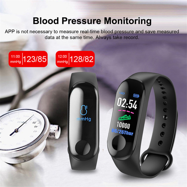 New M4 Women Sport Waterproof Smartwatch Blood Pressure Heart Rate Monitor Smart Watch Men Fitness Tracker Watch PK Mi Band 4