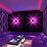 LED Wall Lamp Wall Mounted Indoor LED Projection Colorful Lighting Mural Luminaire Background Wall Light for Home Hotel KTV Bar