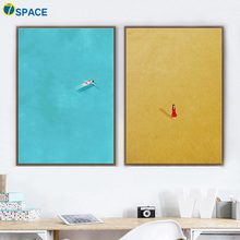 7-Space Longing For Free Girl Canvas Painting Watercolor Print Poster Modern Wall Art Living Room Girls Decor Pictures