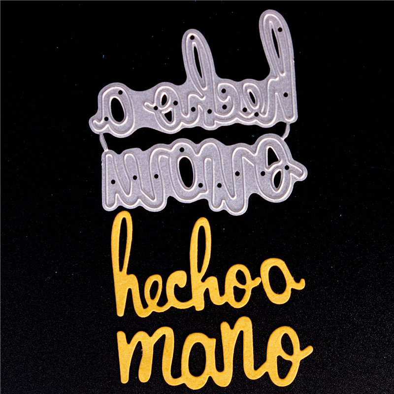 Metal Cutting Dies for Diy Scrapbooking Die Cut New 2018 Cuts for Paper Card Making Craft Embossing Photo Spanish letters word