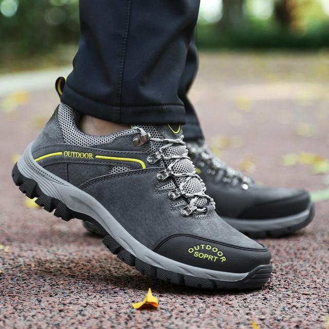 Men outdoor walking hikking shoes non-slip climb trekking workout shoes comfortable waterproof hiking sneakers size 39-49