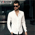 Viishow Casual Shirt Men Slim Fit White Long Sleeve Business Shirt Camisa Masculina Social Basic Shirt Men Big Size M-4XL