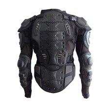 Черная мотоциклетная куртка, мотоциклетная мотокросса, полный защитный бронежилет, Защита позвоночника, размер груди s-xxxl