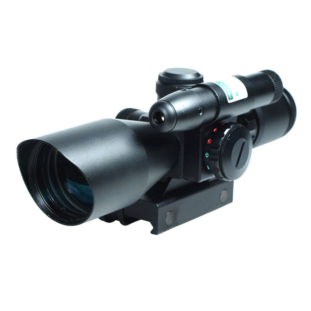 Tactical Rifle Scope 2.5-10x40 Holographic Green Laser Dot illuminated magnifier scope Rail Mount Airsoft Hunting Chasse Caza 2 5 10x40 tactical rifle scope dual illuminated mil dot with red laser rail mount