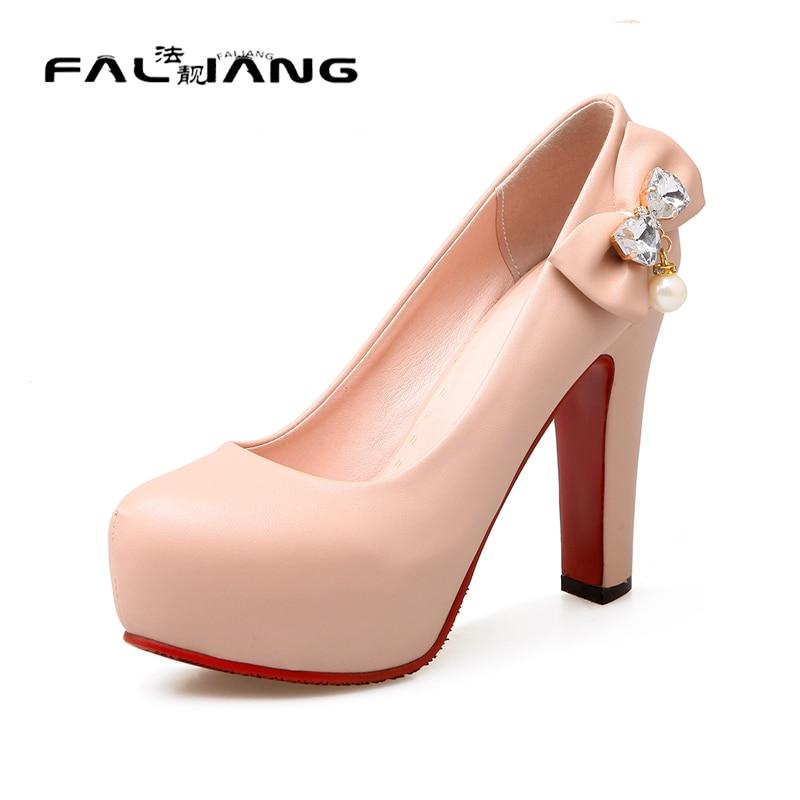 ФОТО Big Size 11 12 13 Elegant Round Toe Casual Square heel Women's Shoes Extreme High Heels Pumps Woman For Women Platform Shoes