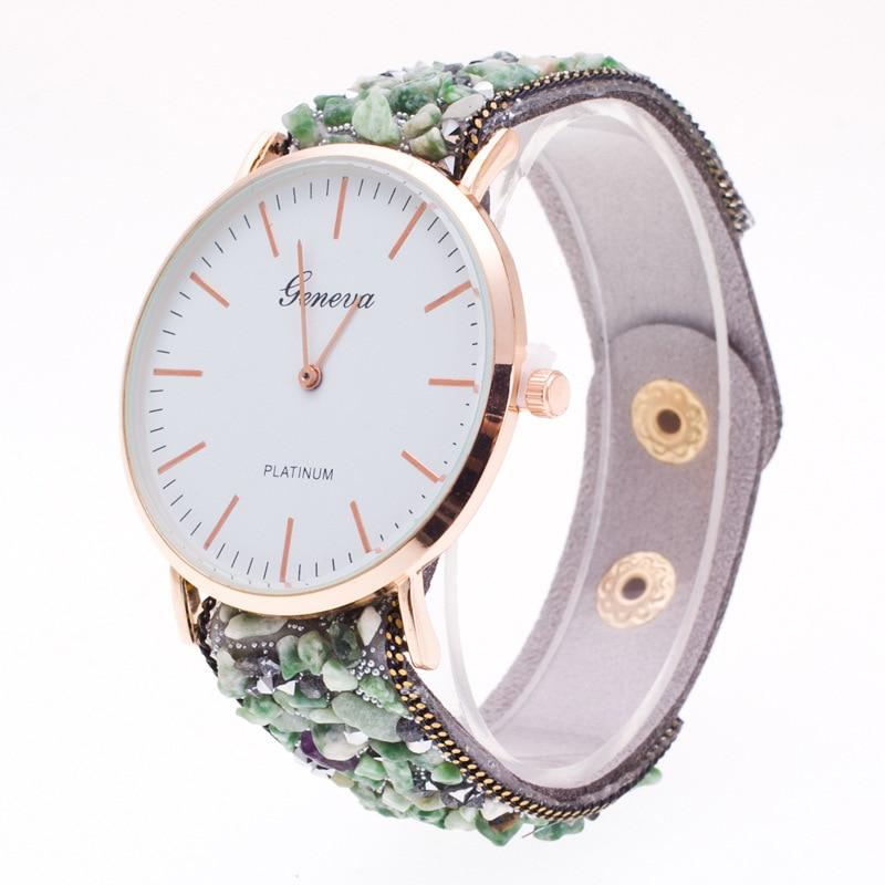 Topkeeping Brand New Women Watches Natursten Armbånd Geneva Watch - Dameure - Foto 4