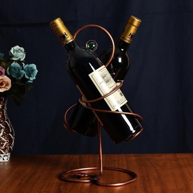 Fabulous Fashion Hot Wrought Iron Handmade Red Wine Bottle Holder Rack 2  ZV16