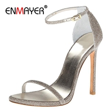 ENMAYER  Casual Buckle Strap Summer Shoes Womens Sandals Platform High Super Size 34-43 ZYL2455