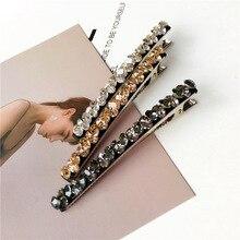 Korea Hair Accessories  Super Shinny Diamond Geometric Clips For Girls Crystal Bows Hairpins Barrette