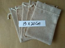 13x18cm 15x20cm 1000pcs Drawstring gift bags jewelry gift pouch bags jute bag for women small linen packaging display Sack bag(China)