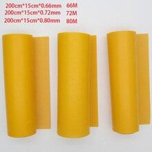 GZK China goede kwaliteit roll rubber orange kleur platte elastiekjes 200 cm * 15 cm * 0.66mm 0.72mm 0.8mm voor DIY slingshot huinting