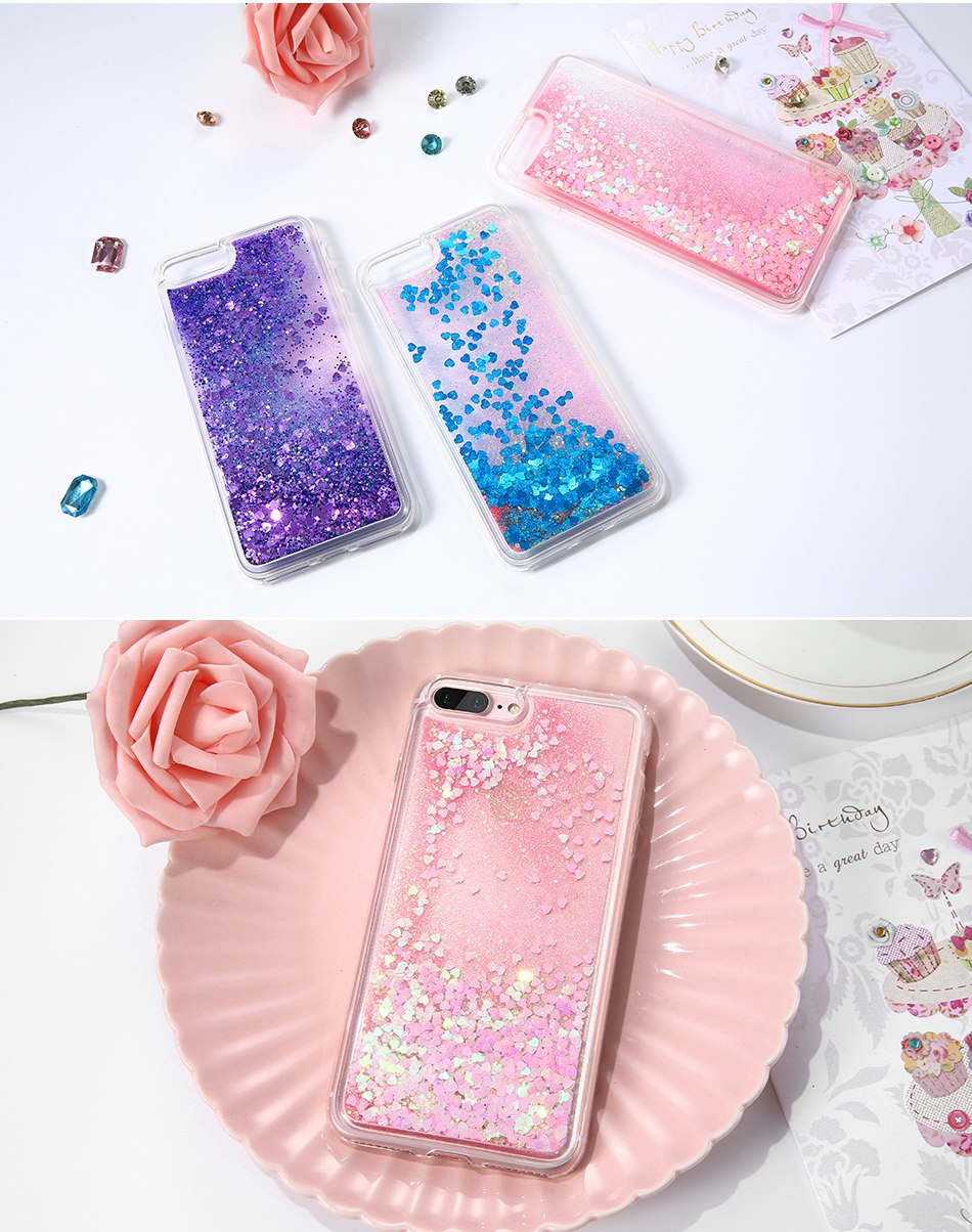 Glitter Quicksand Cover For iPhone 7 Plus For iPhone 6 6S Plus 5 5S SE Sequin Silicon Phone Cases (6)