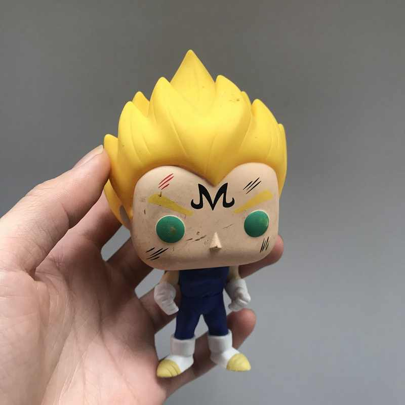 Exclusivo Funko pop Animação de Segunda Mão-Dragon Ball Z Majin Vegeta Vinyl Action Figure Collectible Modelo Toy Solto Sem Caixa