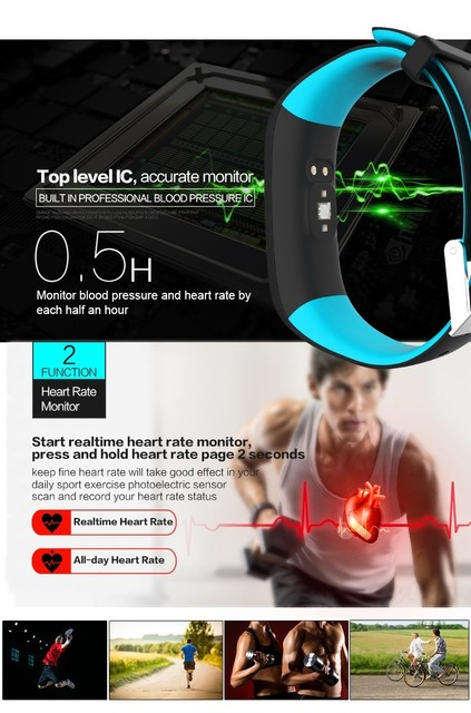 P1 Bluetooth Smartband Blood Pressure Heart Rate Monitor Smart Wristband Waterproof Smart Bracelet Fitness Band for IOS android