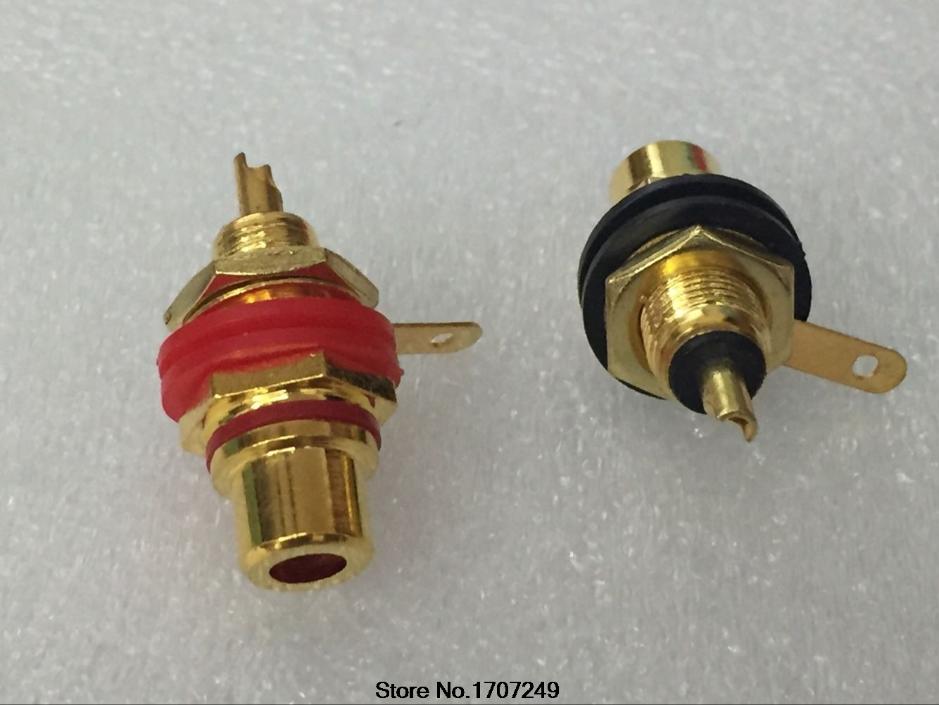 Free Shipping 100PCS Gold Plated RCA Terminal Jack Female Socket Chassis Panel Connector for Amplifier Speaker