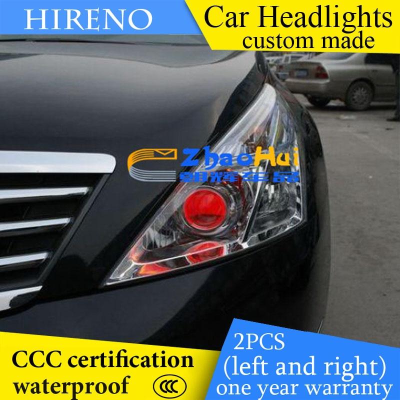 Hireno custom Modified Headlamp for Nissan Altima teana 2008-10 Headlight Assembly Car styling Angel Lens Beam HID Xenon 2 pcs