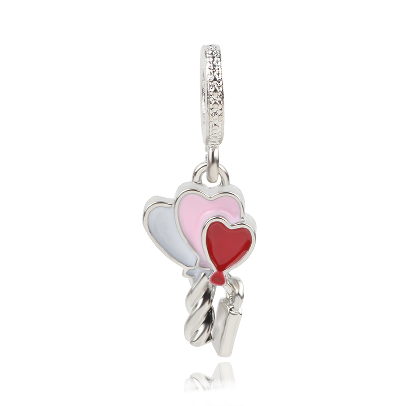 Silver Vintage Sparkly Charms Dreamcatcher Key Bird Balloon Family Bead Fit Original Pandora Bead Bracelet Bangles Jewelry DIY in Beads from Jewelry Accessories