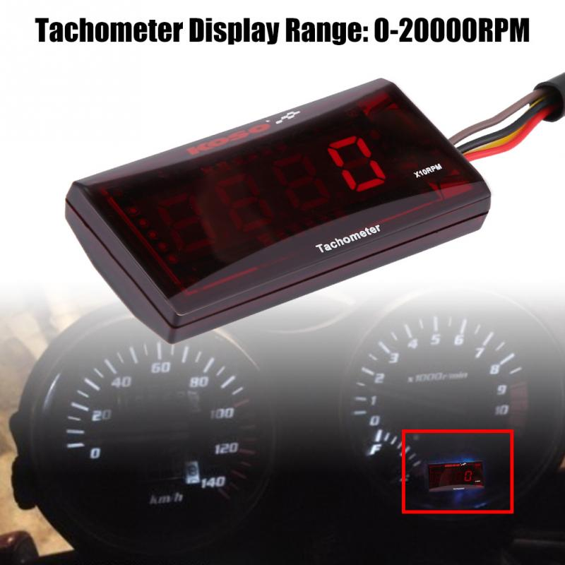 US $12 05 28% OFF|2018 New Motorcycle LED Digital Tachometer Speed Meter  RPM Tester DC 8 18V for Honda Yamaha Kawasaki-in Instruments from  Automobiles