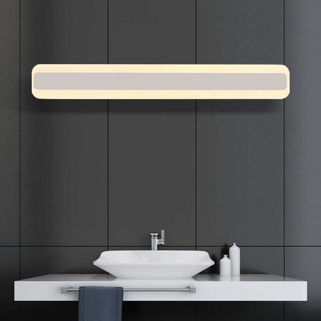 2016 stylish 500mm acrylic mirror wall light 85-265V 16W led bathroom lamp bedroom vanity lighting