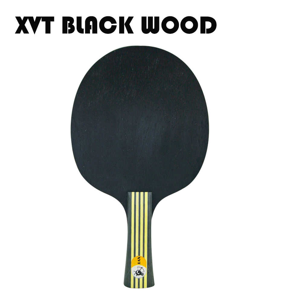 XVT  Upgraded  BLACK WOOD  Table Tennis Blade/ ping pong blade/ table tennis bat