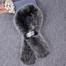 New arrival Luxury warm Winter women fur scarf real fox fur scarves warm neck fur collar