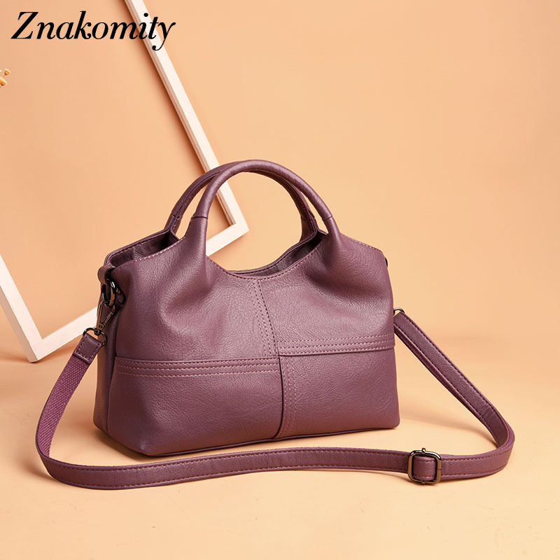 Znakomity 2019 PU Leather Women Handbags Small Patchwork Female Shoulder Bag Luxury Brand Designer Crossbody Bag