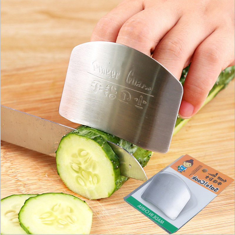 Kitchen Cooking Vegetables Finger Protection Tools Stainless Steel Protectors Finger Cut Vegetable Tools Kitchen Adjustable Kits