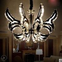 Книги по искусству Творческий Свеча светодиодный хрустальная люстра вилла люстра роскошные гостиная лампа освещение Ресторан моды светод