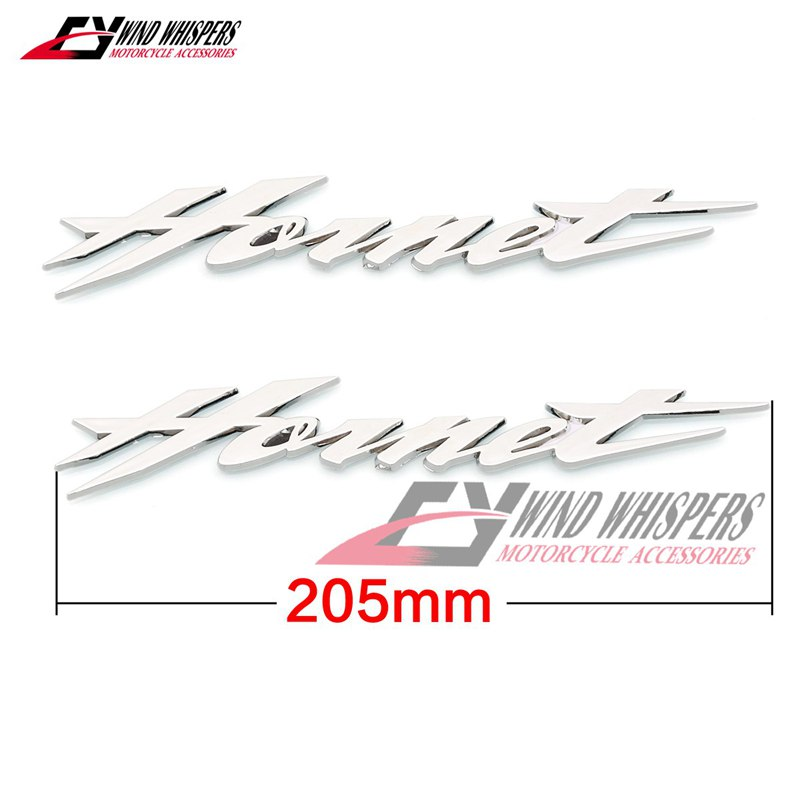 L//R Motorcycle 3D Wing ABS Fuel Gas Tank Badge Emblem Decal Sticker For Honda