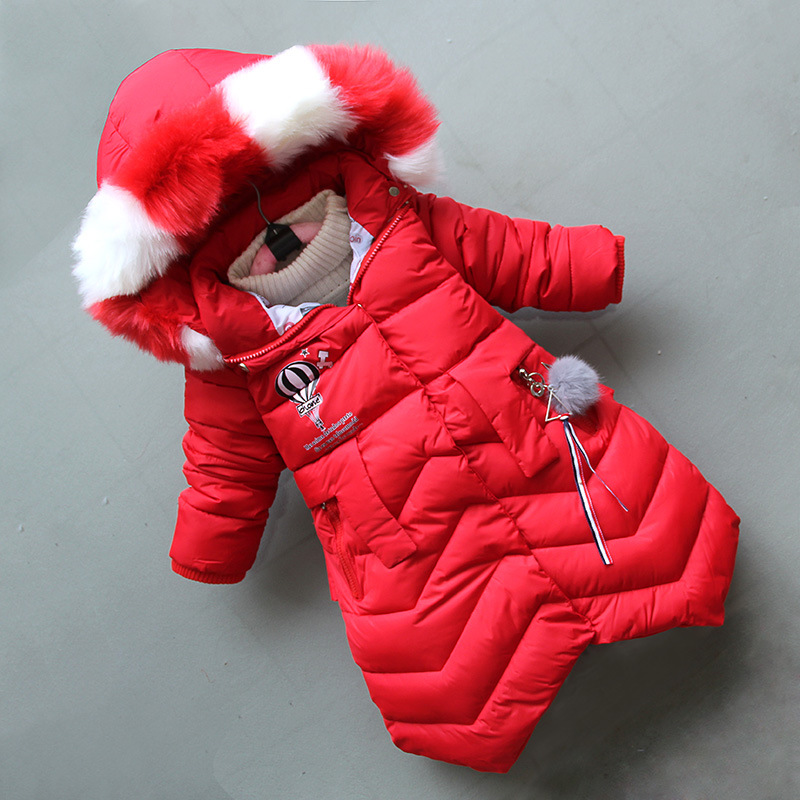 BibiCola children girls coats down parkas winter thick cotton kid clothing bebe casual hooded jackets outerwear fashion snowsuit winter baby jackets outerwear casual toddler girls coats cute style cotton thick hooded coat children down outerwear