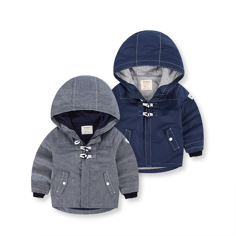 Europe children outerwear coat brand boys Horn button coat ...