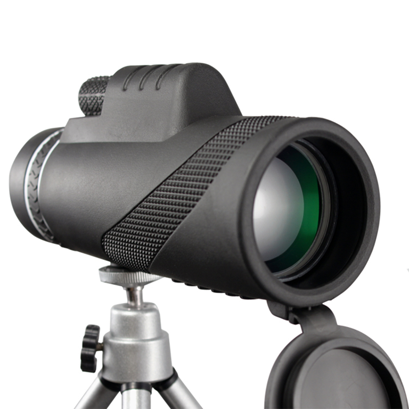 Monoculaire 40x60 Puissant Télescope Zoom Grande Poche Télescope lll Vision Nocturne Militaire HD Professionnel Chasse Accessoires