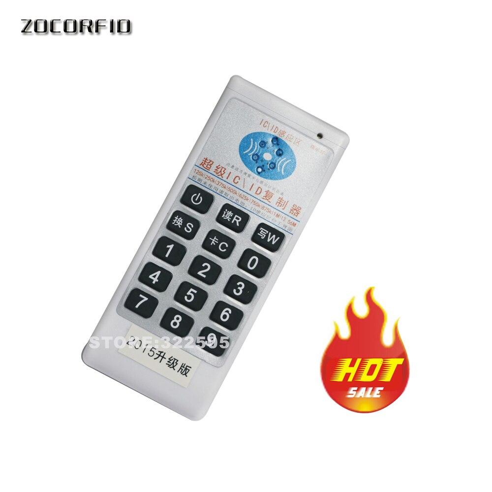 Duplicador de copiadora de mano de 125 Khz-13,56 MHZ Cloner RFID NFC ID/IC lector de tarjetas y escritor 125KHz RFID duplicador copiadora escritor programador lector escritor Tarjeta de Identificación Cloner & key