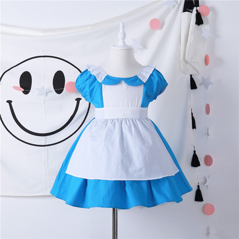 Alice in Wonderland Toddler Baby Girl Cosplay Costumes Princess Dress Kids Holiday Outwear