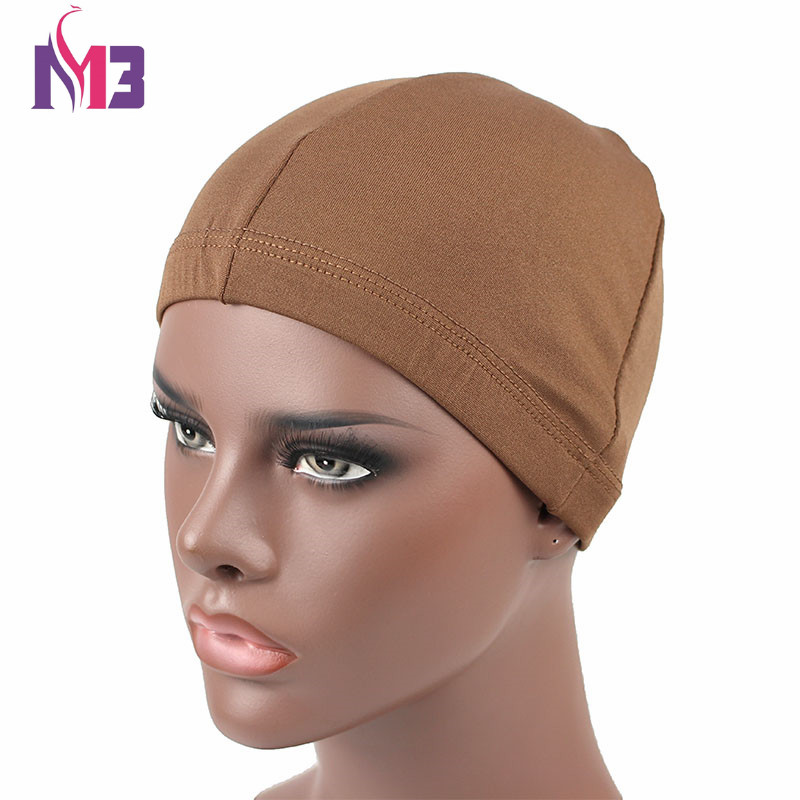 Fashion Men Women Beauty Town Dome Cap Hair Net Liner Wig Cap Spandex Elastic Unisex Dome Bonnet Cap in Men 39 s Skullies amp Beanies from Apparel Accessories