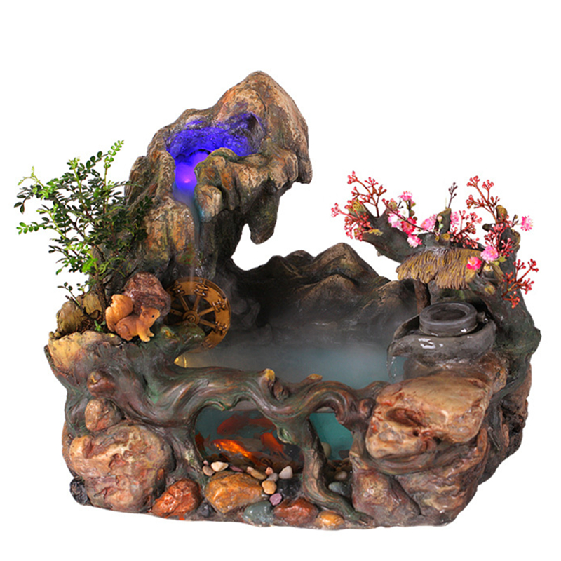 fengshui chino adornos fuentes de agua creativo resina pecera rocalla decoracin del hogar artesana del