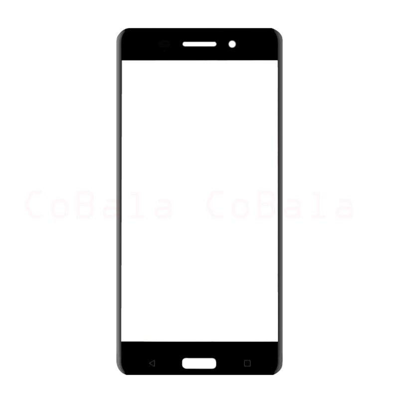 200Pcs/Lot Original Black For Nokia 6 Front Glass 5.5