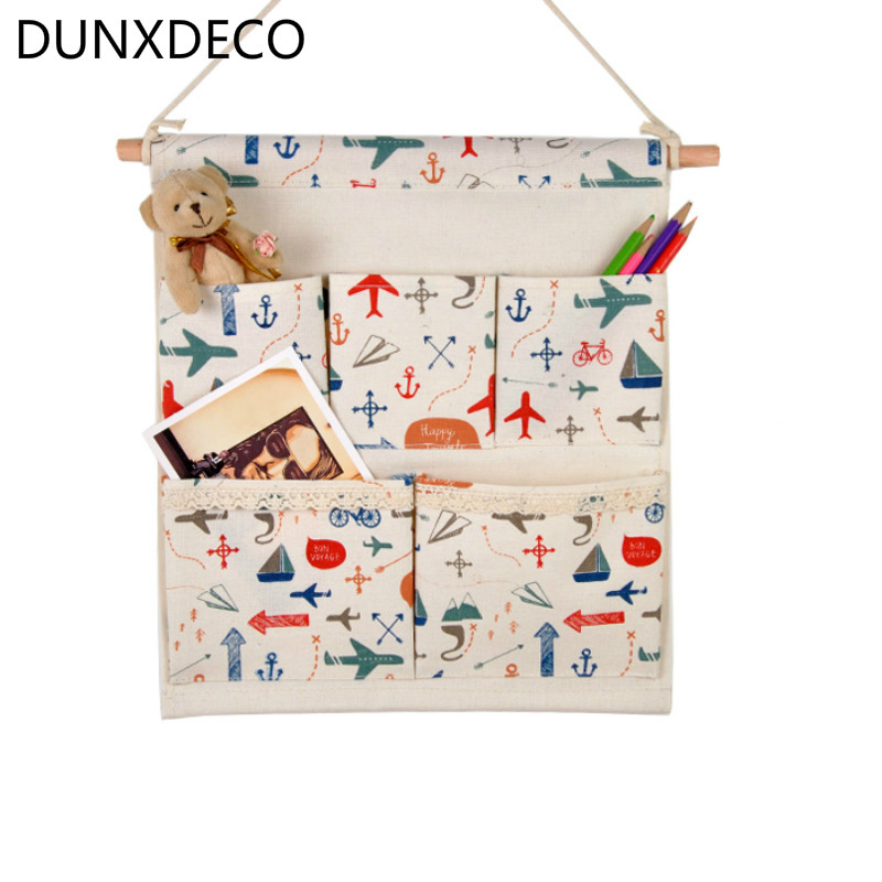 DUNXDECO Home Office Storage Hanging Pocket Organiser Wall Door Hanger Storage Plan Boat Colorful Traveling Childish Decoration plan
